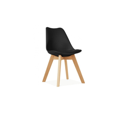 silla nordica negra